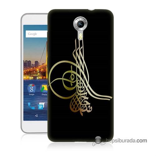 Teknomeg General Mobile 4G Android One Kılıf Kapak Tuğra Osmanlı Baskılı Silikon