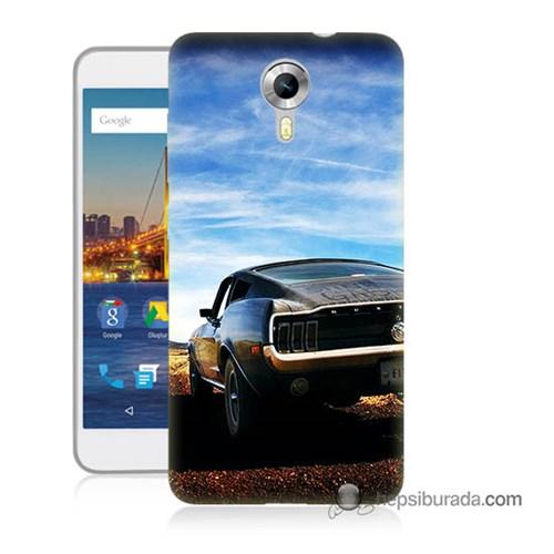 Teknomeg General Mobile 4G Android One Kılıf Kapak Mustang Baskılı Silikon