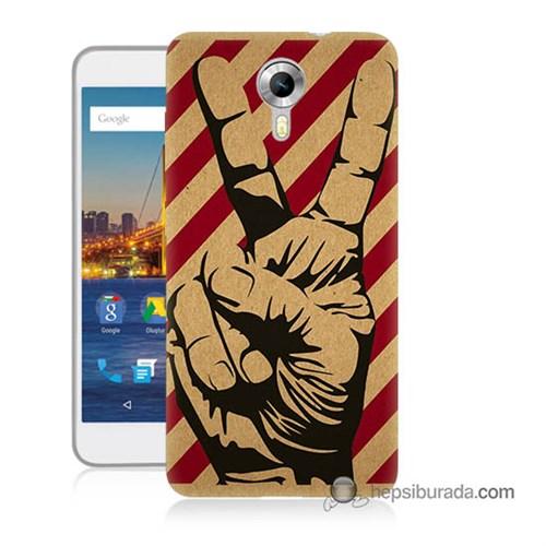 Teknomeg General Mobile 4G Android One Kapak Kılıf Zafer Baskılı Silikon