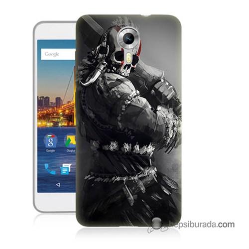 Teknomeg General Mobile 4G Android One Kılıf Kapak Tribal Warrior Baskılı Silikon