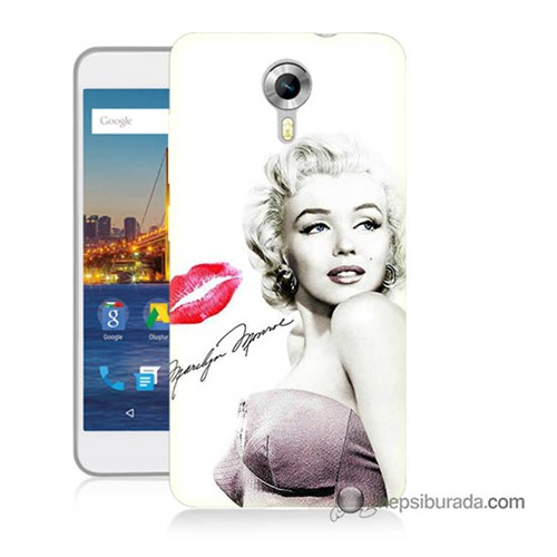 Teknomeg General Mobile 4G Android One Kapak Kılıf Marilyn Monroe Baskılı Silikon