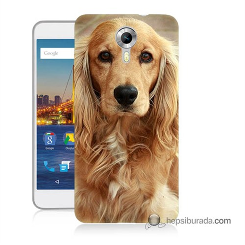 Teknomeg General Mobile 4G Android One Kapak Kılıf Köpek Baskılı Silikon