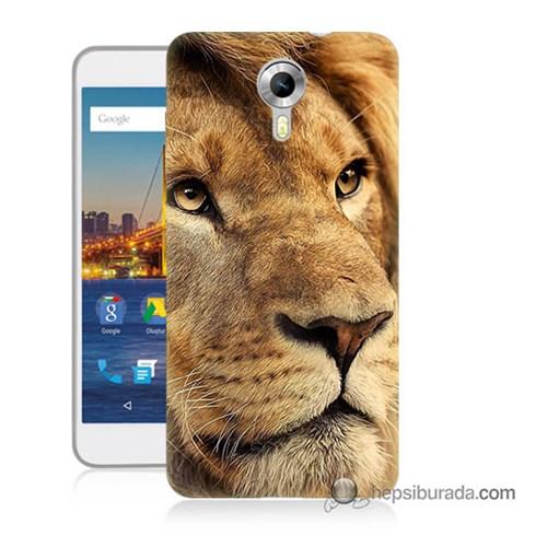 Teknomeg General Mobile 4G Android One Kapak Kılıf Aslan Baskılı Silikon