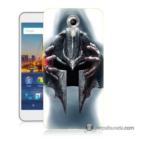 Teknomeg General Mobile 4G Android One Kılıf Kapak Assassins Creed Baskılı Silikon