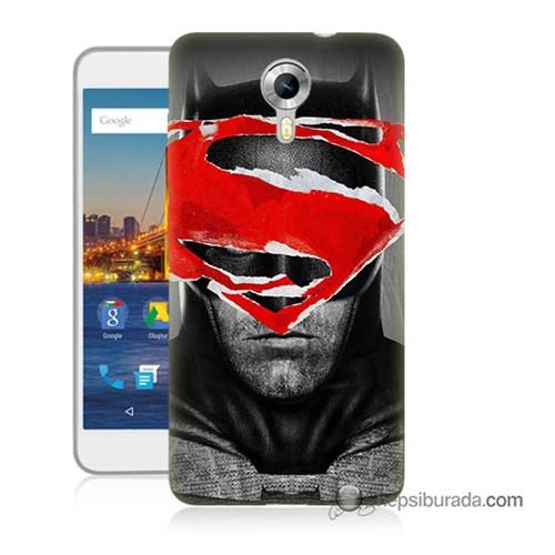 Teknomeg General Mobile 4G Android One Kapak Kılıf Batman Vs Superman Baskılı Silikon