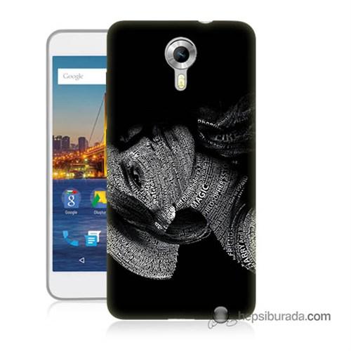 Teknomeg General Mobile 4G Android One Kılıf Kapak Yazılı Kadın Baskılı Silikon