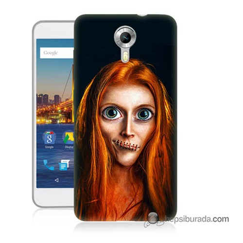 Teknomeg General Mobile 4G Android One Kılıf Kapak Zombie Kız Baskılı Silikon
