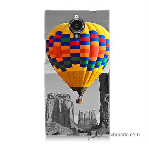 Teknomeg General Mobile Discovery Elite Kılıf Kapak Renkli Uçan Balon Baskılı Silikon