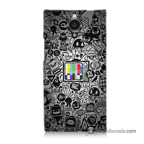 Teknomeg General Mobile Discovery Elite Kapak Kılıf Renkli Tv Baskılı Silikon