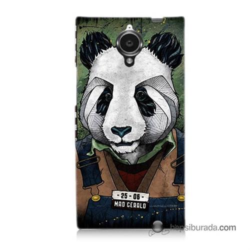 Teknomeg General Mobile Discovery Elite Kapak Kılıf İşçi Panda Baskılı Silikon