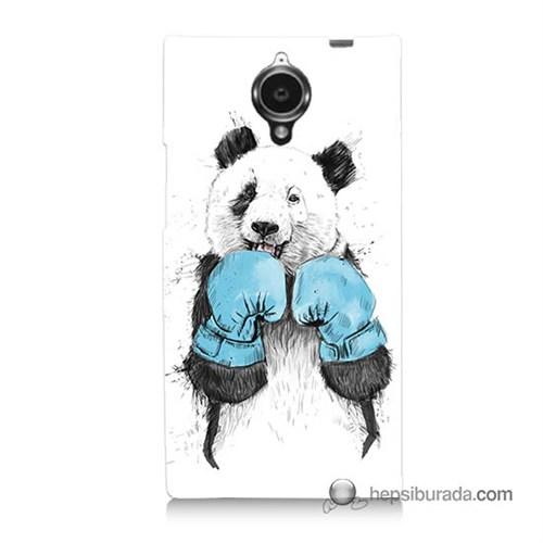 Teknomeg General Mobile Discovery Elite Kılıf Kapak Boksör Panda Baskılı Silikon