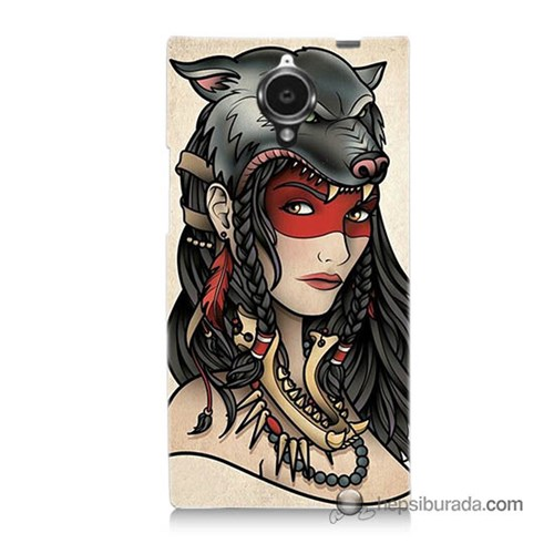Teknomeg General Mobile Discovery Elite Kapak Kılıf Pocahontas Baskılı Silikon