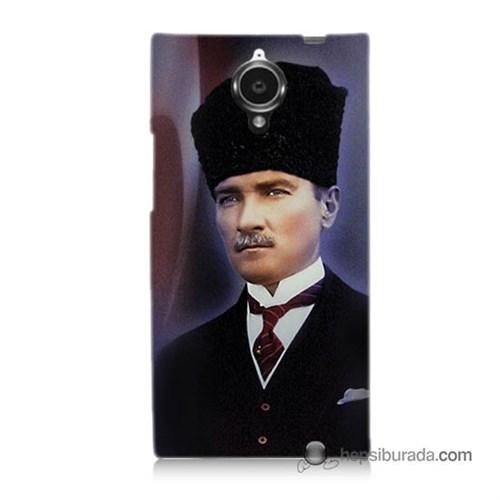 Teknomeg General Mobile Discovery Elite Kılıf Kapak Mustafa Kemal Atatürk Baskılı Silikon