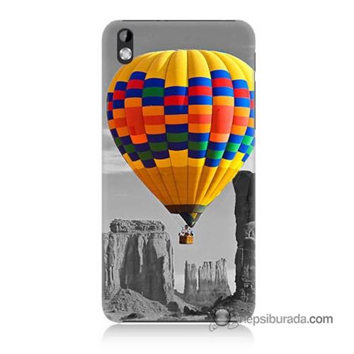 Teknomeg Htc Desire 816 Kılıf Kapak Renkli Uçan Balon Baskılı Silikon
