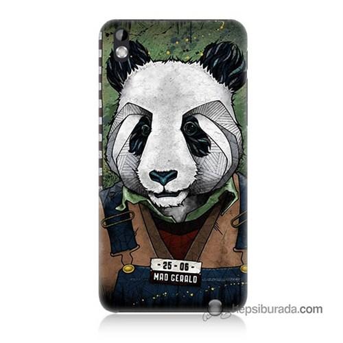 Teknomeg Htc Desire 816 Kapak Kılıf İşçi Panda Baskılı Silikon