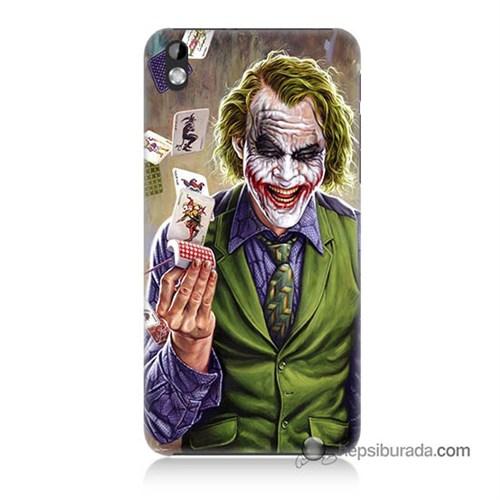 Teknomeg Htc Desire 816 Kılıf Kapak Kartlı Joker Baskılı Silikon