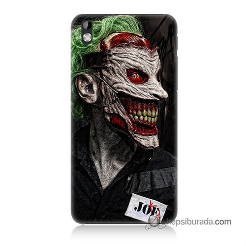 Teknomeg Htc Desire 816 Kapak Kılıf Joker Joe Baskılı Silikon