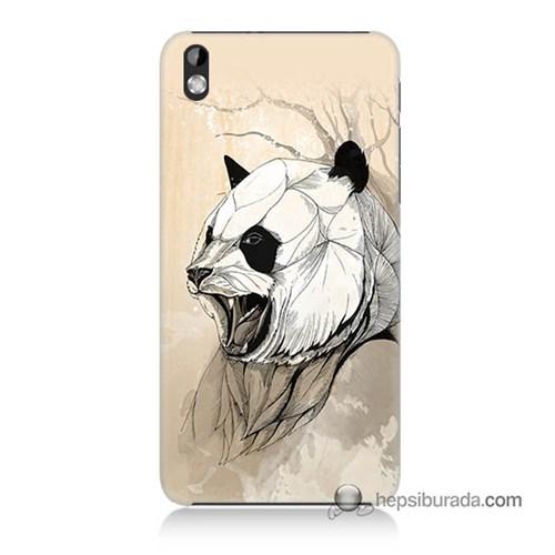 Teknomeg Htc Desire 816 Kapak Kılıf Kavgacı Panda Baskılı Silikon