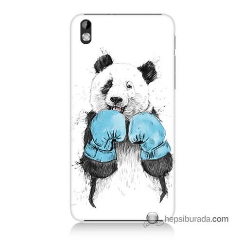 Teknomeg Htc Desire 816 Kılıf Kapak Boksör Panda Baskılı Silikon