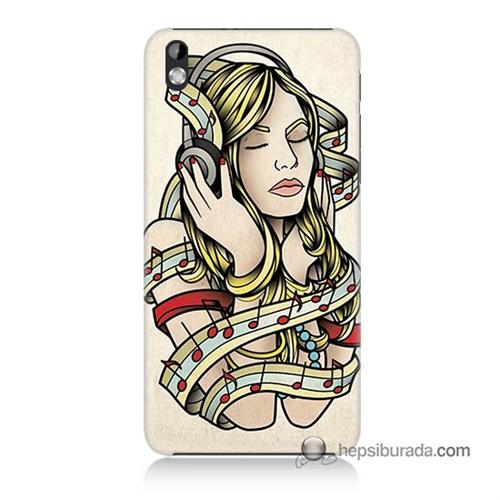 Teknomeg Htc Desire 816 Kapak Kılıf Müzik Aşkı Baskılı Silikon