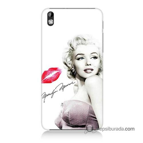 Teknomeg Htc Desire 816 Kapak Kılıf Marilyn Monroe Baskılı Silikon
