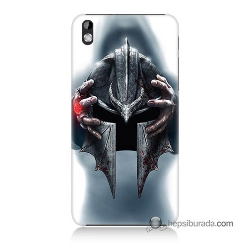 Teknomeg Htc Desire 816 Kılıf Kapak Assassins Creed Baskılı Silikon
