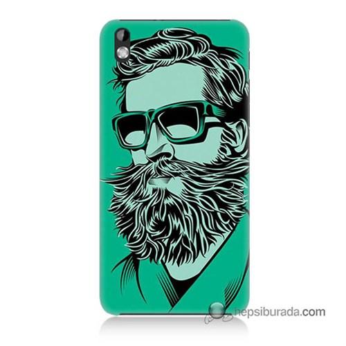 Teknomeg Htc Desire 816 Kılıf Kapak Beard Art Baskılı Silikon