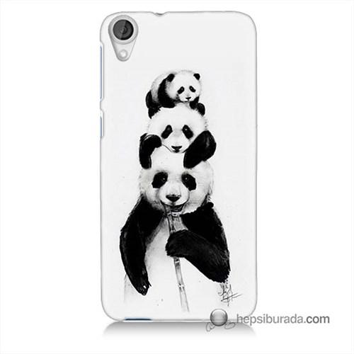 Teknomeg Htc Desire 820 Kapak Kılıf Panda Ailesi Baskılı Silikon