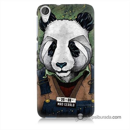 Teknomeg Htc Desire 820 Kapak Kılıf İşçi Panda Baskılı Silikon