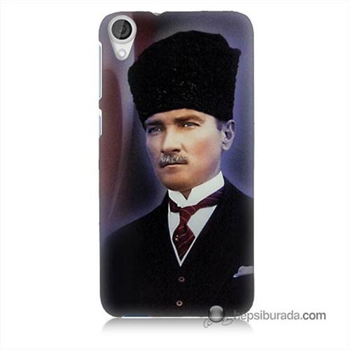 Teknomeg Htc Desire 820 Kılıf Kapak Mustafa Kemal Atatürk Baskılı Silikon