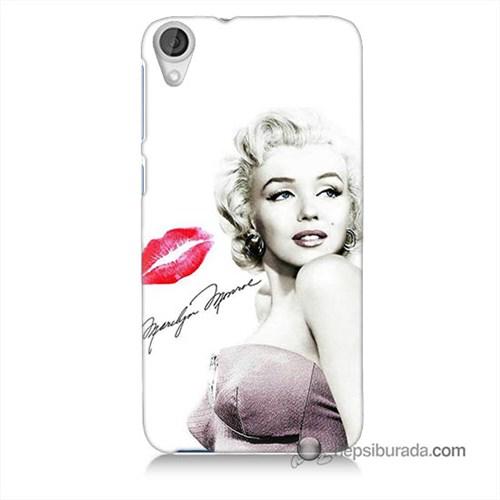 Teknomeg Htc Desire 820 Kapak Kılıf Marilyn Monroe Baskılı Silikon