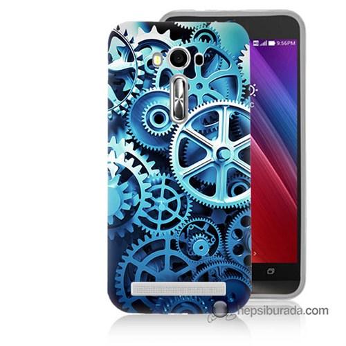 Teknomeg Asus Zenfone Laser 5.5 Kapak Kılıf Çarklar Baskılı Silikon