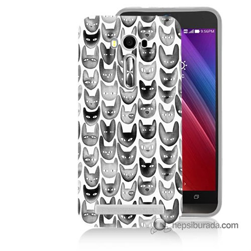 Teknomeg Asus Zenfone Laser 5.5 Kapak Kılıf Kediler Baskılı Silikon