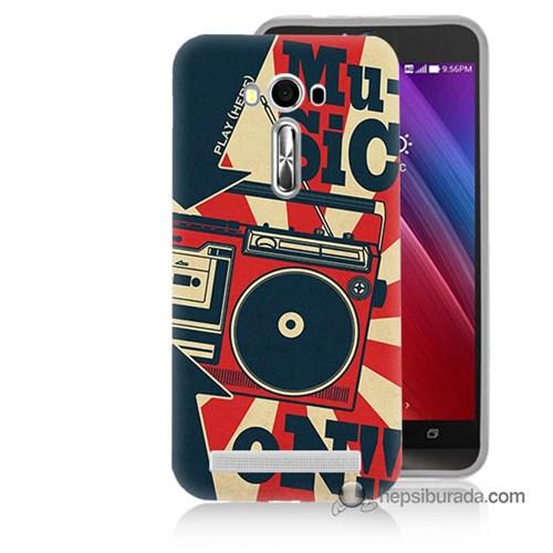 Teknomeg Asus Zenfone Laser 5.5 Kapak Kılıf Müzik Baskılı Silikon