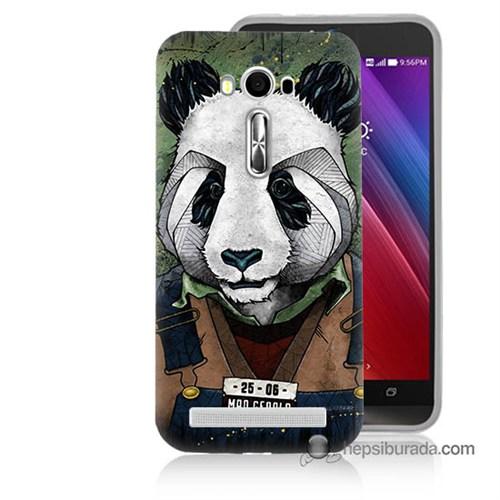 Teknomeg Asus Zenfone Laser 5.5 Kapak Kılıf İşçi Panda Baskılı Silikon