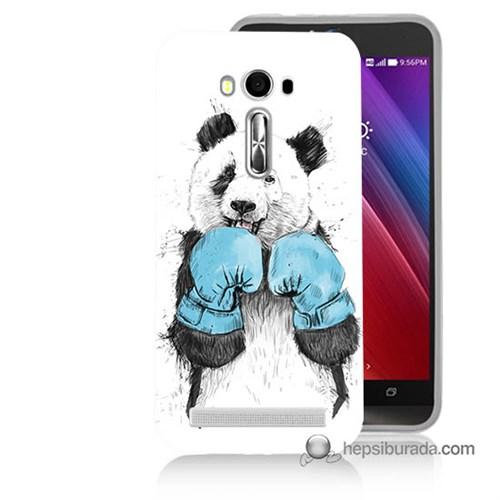Teknomeg Asus Zenfone Laser 5.0 Kılıf Kapak Boksör Panda Baskılı Silikon