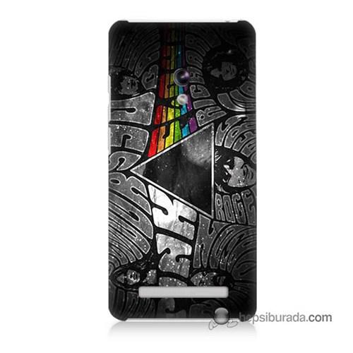Teknomeg Asus Zenfone 5 Kapak Kılıf Pink Floyd Baskılı Silikon