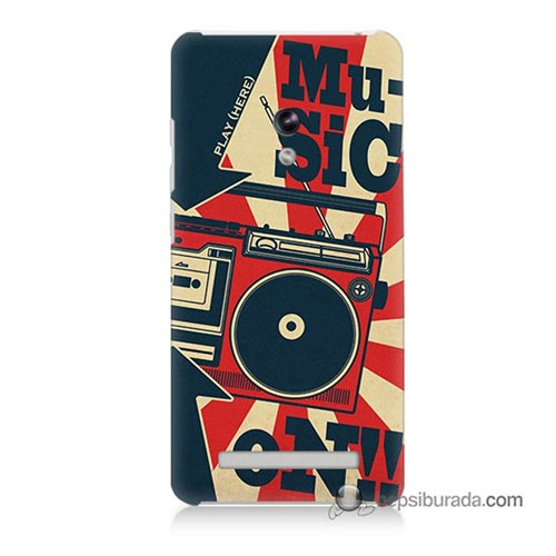 Teknomeg Asus Zenfone 5 Kapak Kılıf Müzik Baskılı Silikon