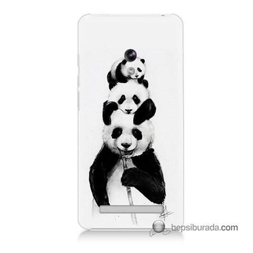 Teknomeg Asus Zenfone 5 Kapak Kılıf Panda Ailesi Baskılı Silikon