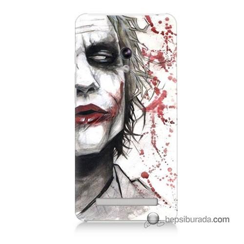 Teknomeg Asus Zenfone 5 Kapak Kılıf Kanlı Joker Baskılı Silikon