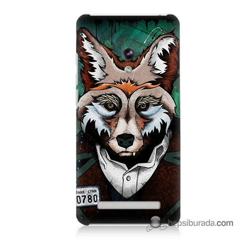 Teknomeg Asus Zenfone 5 Kılıf Kapak Bad Wolf Baskılı Silikon