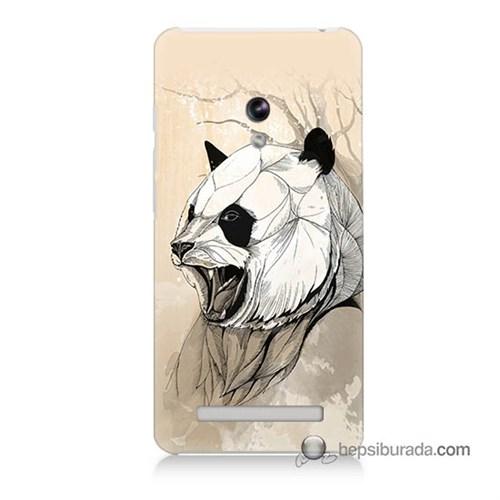 Teknomeg Asus Zenfone 5 Kapak Kılıf Kavgacı Panda Baskılı Silikon