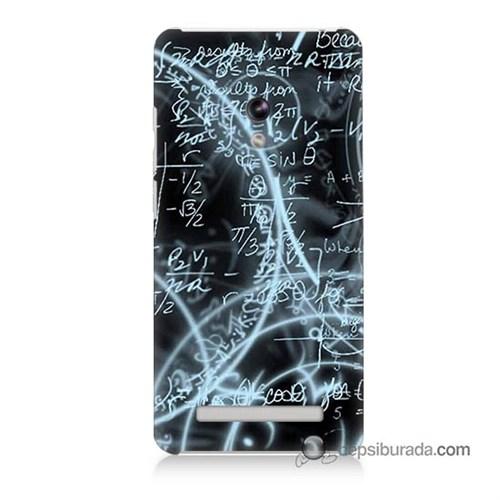 Teknomeg Asus Zenfone 5 Lite Kapak Kılıf Matematik Baskılı Silikon