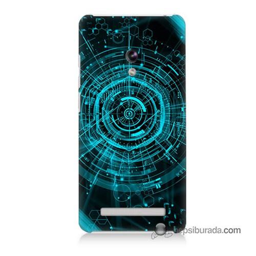 Teknomeg Asus Zenfone 6 Kapak Kılıf Asit Baskılı Silikon