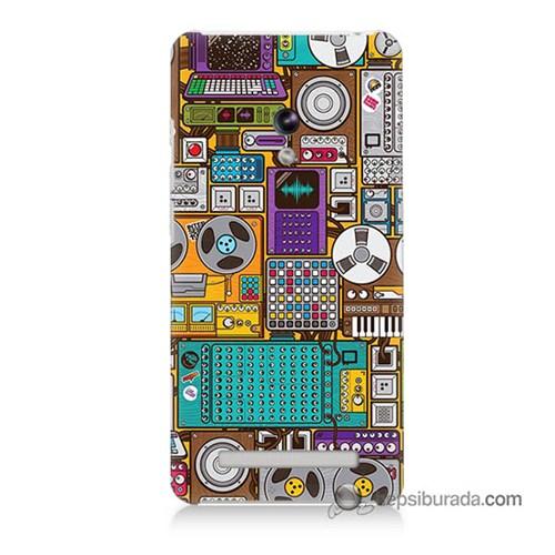 Teknomeg Asus Zenfone 6 Kılıf Kapak Teknoloji Baskılı Silikon