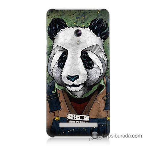 Teknomeg Asus Zenfone 6 Kapak Kılıf İşçi Panda Baskılı Silikon