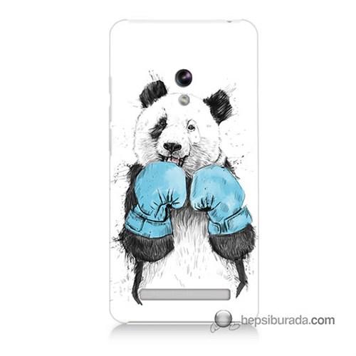 Teknomeg Asus Zenfone 6 Kılıf Kapak Boksör Panda Baskılı Silikon
