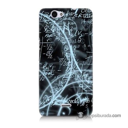 Teknomeg Casper Via V5 Kapak Kılıf Matematik Baskılı Silikon