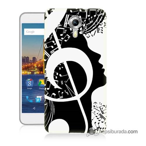 Teknomeg General Mobile 4G Android One Kapak Kılıf Notalar Baskılı Silikon