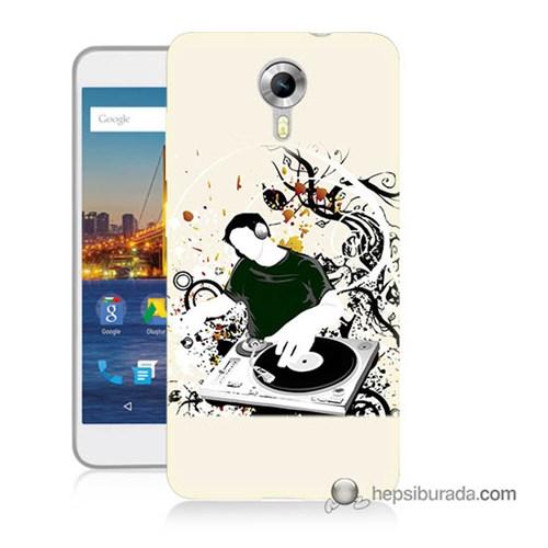 Teknomeg General Mobile 4G Android One Kılıf Kapak Disc Jokey Baskılı Silikon